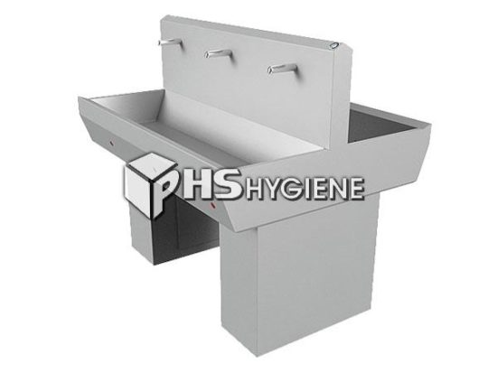 Industrial Double Sink Wash Basins