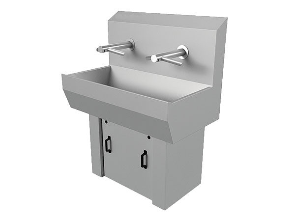 Wash Basins w/ Hand Dryers